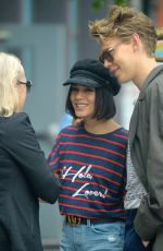 VANESSA HUDGENS and Austin Butler Out in New York 06/23/2017
