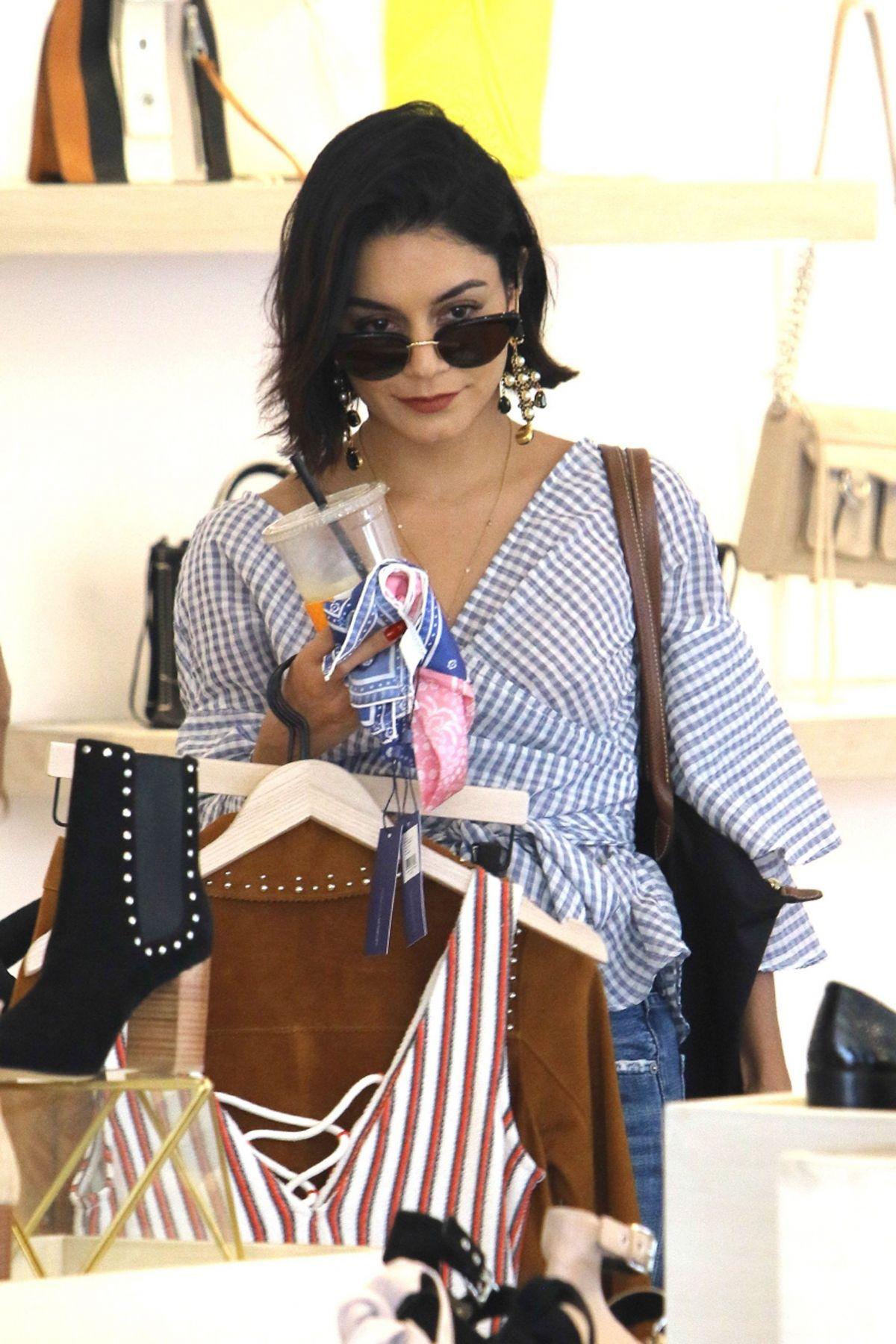 VANESSA HUDGENS Shopping at L