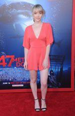 VIOLETT BEANE at 47 Meters Down Premiere in Los Angeles 06/12/2017