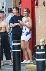 VOGUE WILLIAMS Enjoying a Cigarette Break in London 06/26/2017