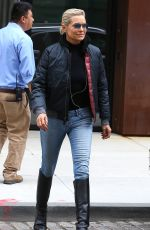 YOLANDA HADID Out and About in New York 06/05/2017