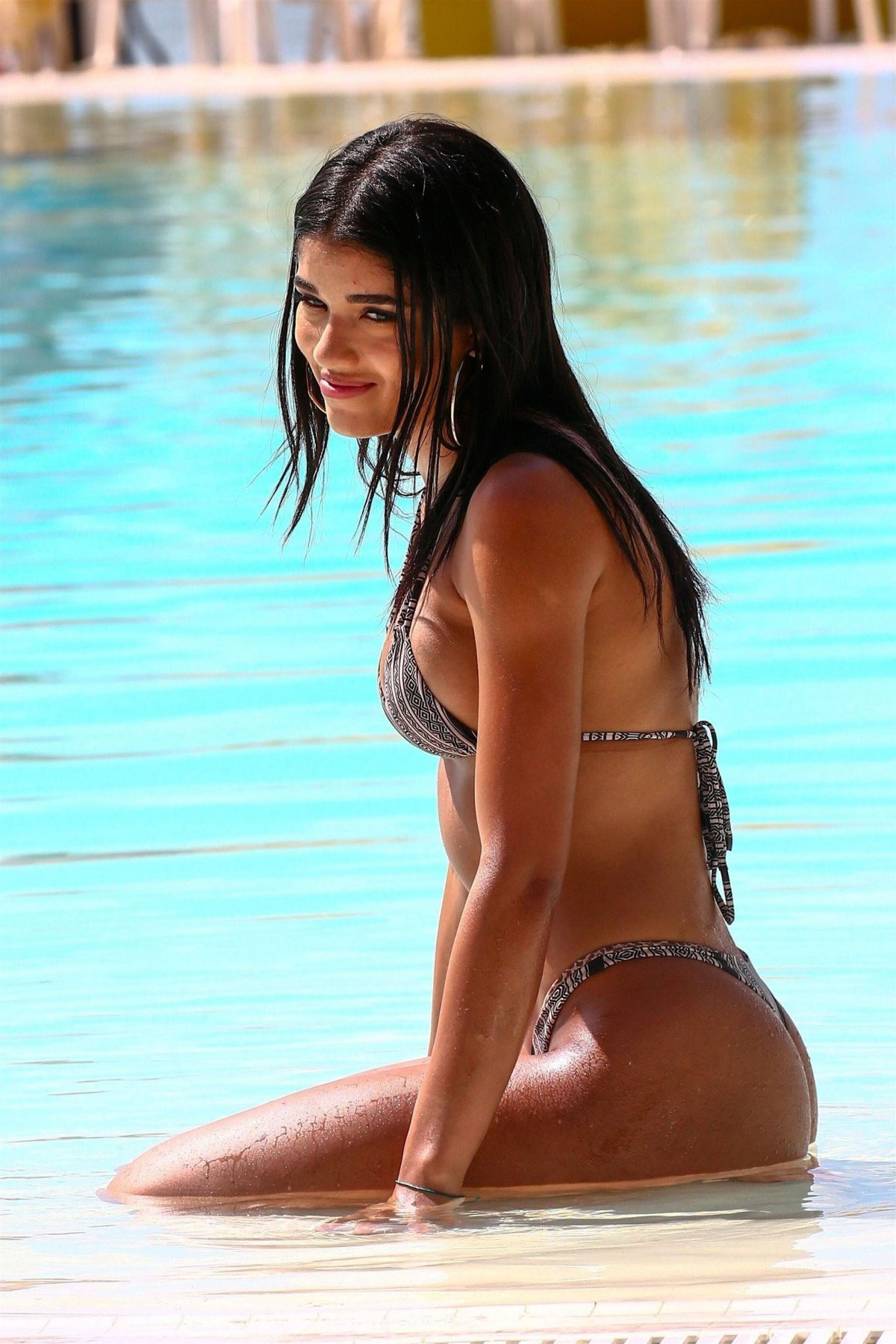 YOVANNA VENTURA in Bikini at a Pool in Miami 06/22/2017