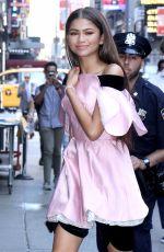 ZENDAYA COLEMAN Arrives at Good Morning America in New York 06/20/2017