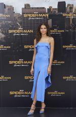 ZENDAYA COLEMAN at Spider-man: Homecoming Photocall in Madrid 06/14/2017