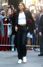 ZENDAYA COLEMAN Leaves Good Morning America in New York 06/20/2017