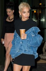 ZOE KRAVITZ Leaves Her Hotel in New York 06/09/2017