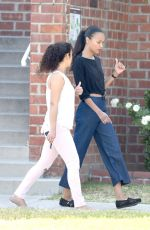 ZOE SALDANA Out and About in Los Angeles 06/02/2017