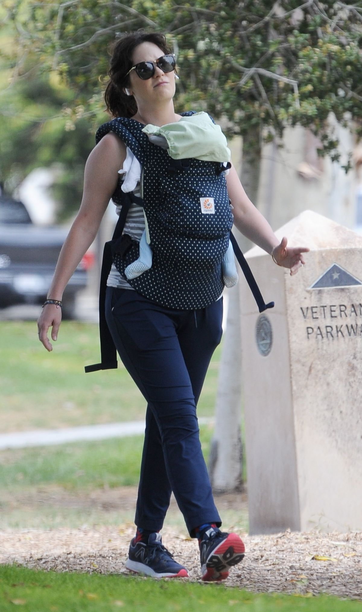 ZOOEY DESCHANEL Out with Her Baby in Los Angeles 06/03 ...
