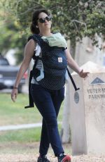 ZOOEY DESCHANEL Out with Her Baby in Los Angeles 06/03/2017