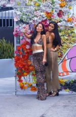 ABIGAIL RATCHFORD and GEMMA LEE FARRELL Filming at Wynwood Walls in Los Angeles 07/16/2017