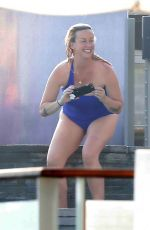 ALANIS MORISSETTE in Swimsuit at a Beach in Malibu 07/09/2017