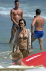 ALESSANDRA AMBROSIO in Bikini on the Beach in Ibiza 07/09/2017
