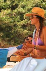 ALESSANDRA AMBROSIO in Bikini on the Beach in Ibiza 07/10/2017