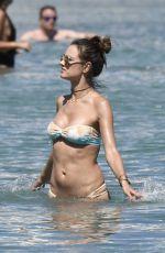 ALESSANDRA AMBROSIO in Bikini on the Beach in Mykonos 07/05/2017