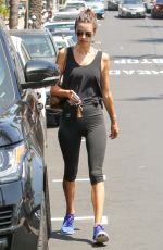 ALESSANDRA AMBROSIO in Leggings Out in Brentwood 07/28/2017