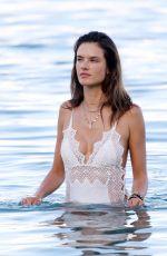 ALESSANDRA AMBROSIO in Swimsuit on the Beach in Mykonos 07/02/2017
