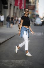 ALESSANDRA AMBROSIO Out and About in New York 07/21/2017