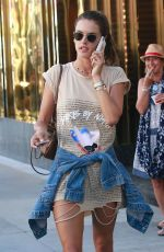 ALESSANDRA AMBROSIO Out in Beverly Hills 07/27/2017