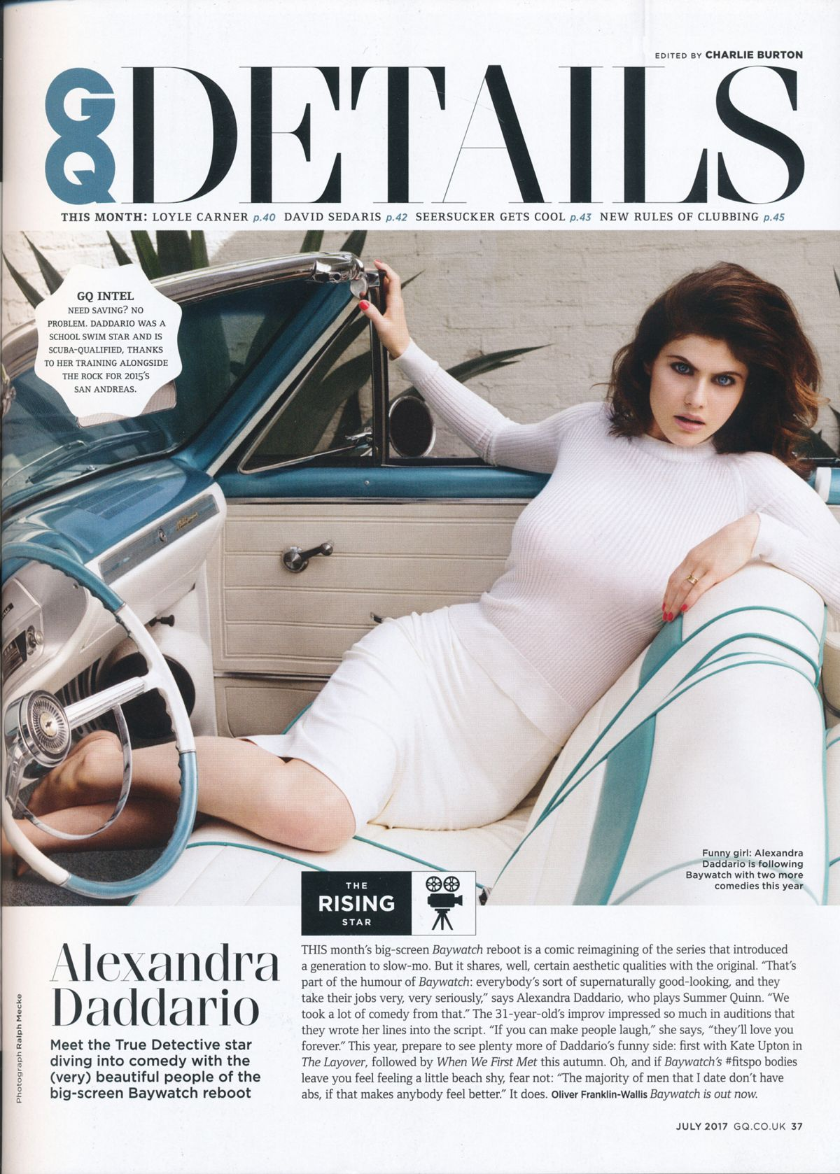 ALEXANDRA DADDARIO in GQ Magazine, UK July 2017