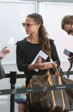 ALICIA VIKANDER and Michael Fassbender Departing from Toronto Pearson International Airport 07/17/2017