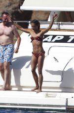 ALICIA VIKANDER in Bikini at a Yacht in Formentera 07/05/2017