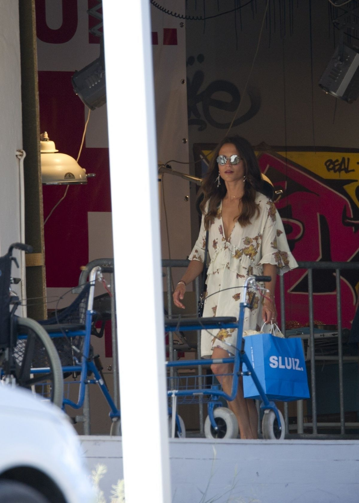 ALICIA VIKANDER Out Shopping in Ibiza 07/09/2017