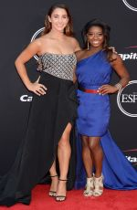 ALY RAISMAN at Espy Awards 2017 in Los Angeles 07/12/2017