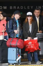 ALYSON HANNIGAN at LAX Airport in Los Angeles 07/03/2017