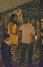 AMAL CLOONEY and George Clooney Out in Lake Como 07/18/2017