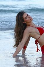 AMANDA CERNY in Bikini on the Beach in Miami 07/27/2017