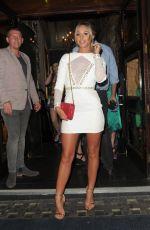 AMBER DOWDING Arrives at Cafe De Paris in London 07/08/2017