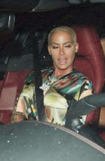 AMBER ROSE Leaves Peppermint Club in West Hollywood 07/08/2017