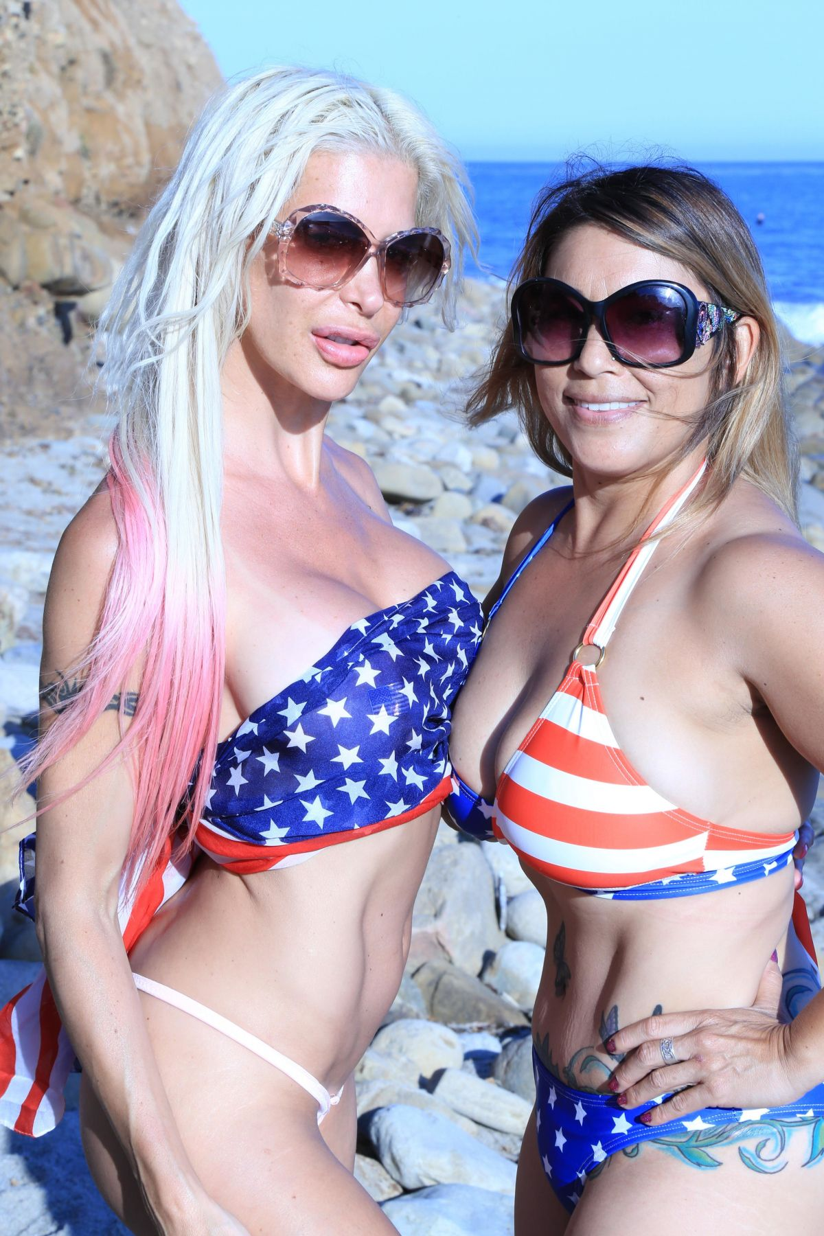 ANGELIQUE FRENCHY MORGAN and JENNA URBAN at a Beach in Malibu 07/04/2017