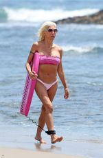 ANGELIQUE FRENCHY MORGAN in Bikini on the Beach in Malibu 07/06/2017