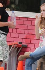 ANGOURIE RICE on the Set of  Every Day in Toronto 07/17/2017