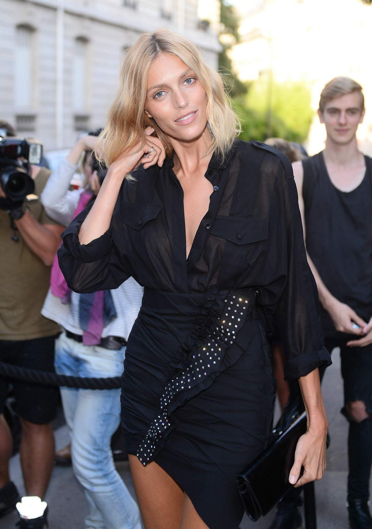 ANJA RUBIK at Vogue Party at Paris Fashion Week 07/04/2017