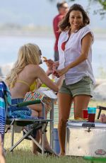ANNA FARIS and EVA LONGORIA on the Set of Oerboard in Vancouver 06/28/2017