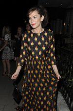 ANNA FRIEL Leaves Mayfairs 34 Restaurant in London 07/18/2017
