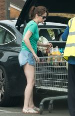 ANNA FRIEL Out for Grocery Shopping at Tesco in Windsor 07/07/2017