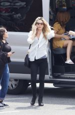ANNABELLE WALLIS and ISLA FISHER Arrives on the Set of Tag in Atlanta 07/12/2017