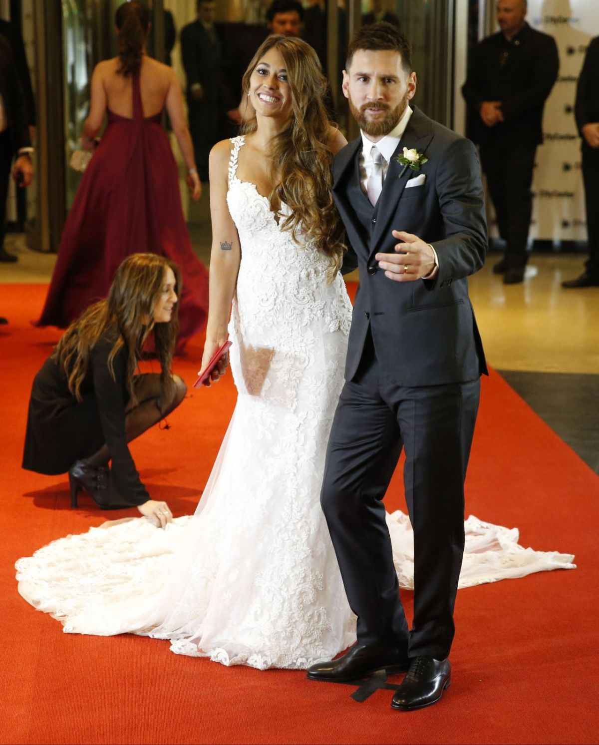 ANTONELLA ROCCUZZO with Lionel Messi at Wedding Reception in Argentina 06/30/2017