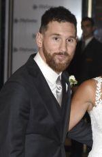ANTONELLA ROCCUZZO with Lionel Messi at Wedding Reception in Argentina 06/30/2017