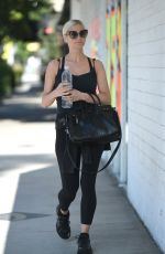 ASHLEE SIMPSON Heading to a Gym in Los Angeles 07/21/2017
