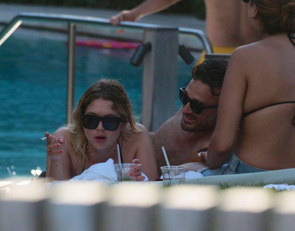 ASHLEY BENSON at a Pool in Miami 07/02/2017