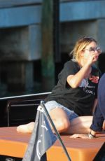 ASHLEY BENSON With Friends on a Boat in Miami 07/01/2017