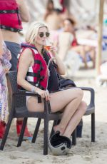 ASHLEY JAMES in Swimsuit at a Beach in Ibiza 07/21/2017
