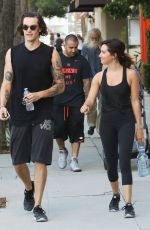 ASHLEY TISDALE and Christopher French Heading to a Gym in Studio City 07/20/2017