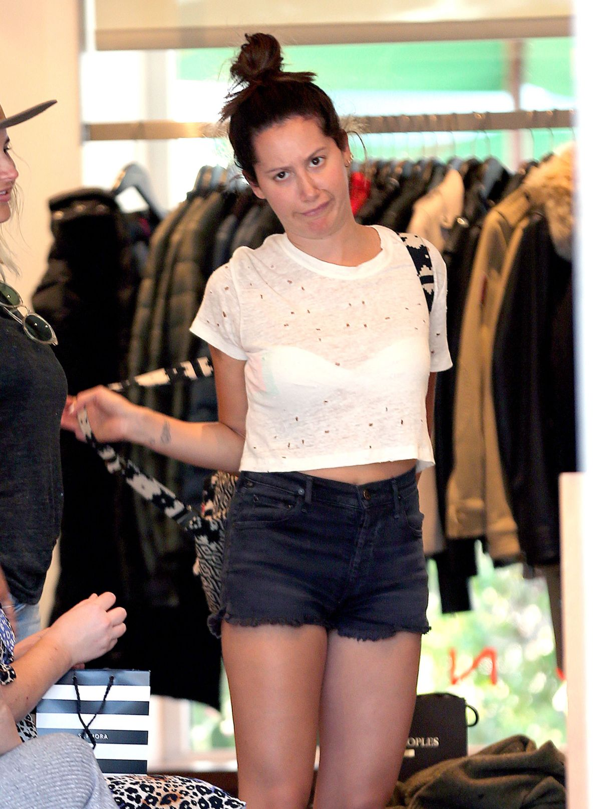 ASHLEY TISDALE Out Shopping in Malibu 25/07/2017