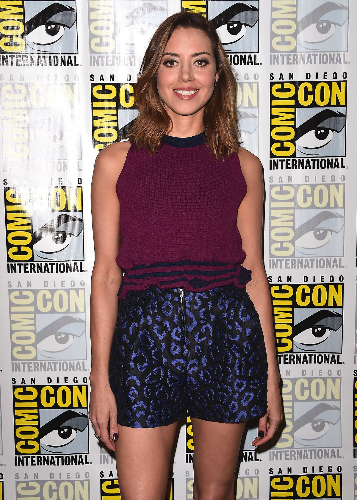 AUBREY PLAZA at Legion Press Line at Comic-con 2017 in San Diego 07/20/2017