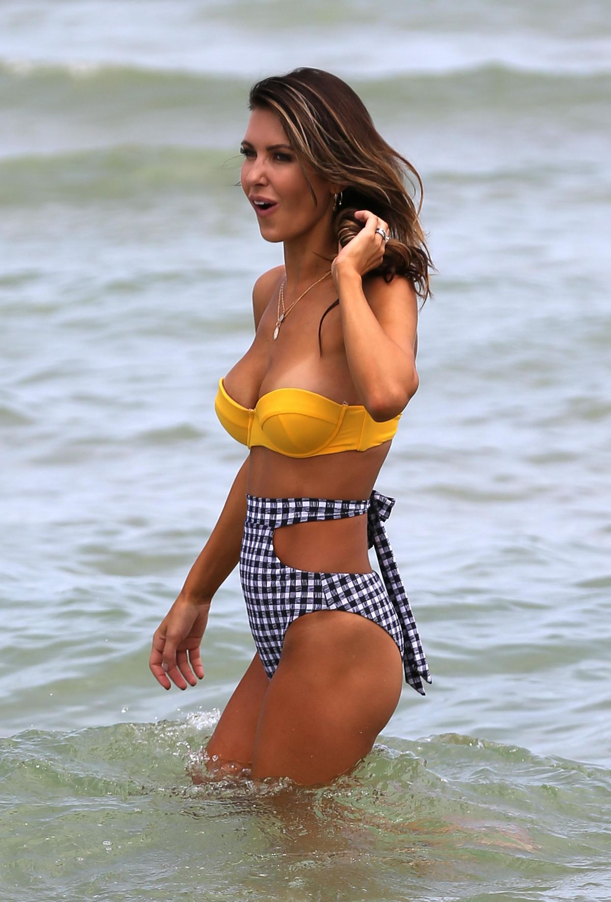 AUDRINA PATRIDGE in Bikini at a Beach in Miami 07/23/2017